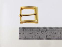 Boucle de ceinture carré doré simple ardillon 30 mm Cuirenstock