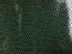 Morceau de cuir effet serpent vert cuir en stock