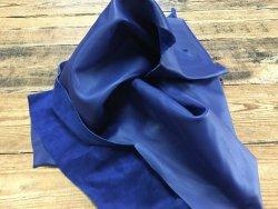 demi peau de cuir de veau lisse bleu nuit Cuirenstock