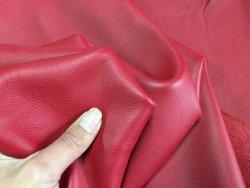 Demi-peau cuir de veau lisse rouge cuirenstock