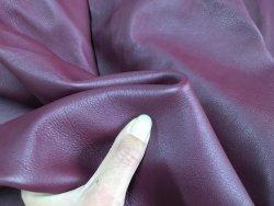 demi peau de cuir de veau lisse bordeaux cuirenstock