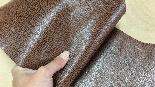 peau de cuir de requin brun Cuir en Stock