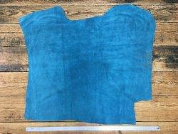 peau de veau velours bleu turquoise cuir en stock