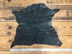 peau cuir naturel fripé noir cuir en stock
