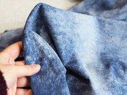 cuir de chèvre velours bleu jean Cuirenstock