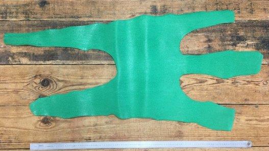 peau entière de cuir de requin vert cuirenstock