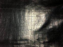 peau de cuir de mouton gros grain crocodile Cuir en stock
