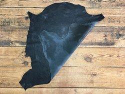 peau de cuir de mouton vieilli craquelé noir Cuir en stock