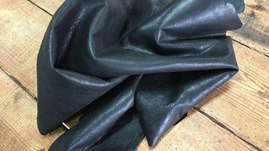 peau de cuir de mouton vieilli craquelé noir Cuirenstock