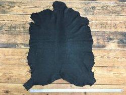 peau de cuir de chèvre nubuck ciré mat noir cuirenstock