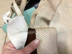 chutes de cuir de python véritable cuirenstock