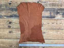 peau d'agneau velours cognac cuir en stock