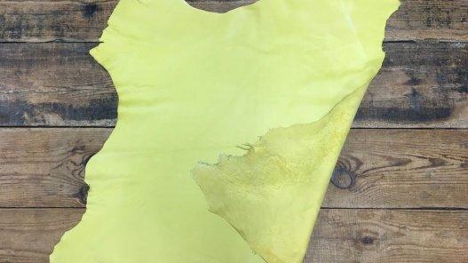 Peau de cuir de veau lisse jaune cuirenstock