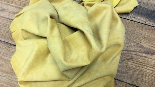 Peau de chèvre velours jaune Cuirenstock