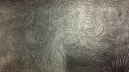 peau de cuir de mouton grain cordoue fleuri noir cuir en stock