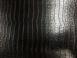Chèvre grain crocodile noir