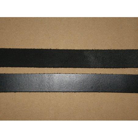 Bande cuir noir 15mm