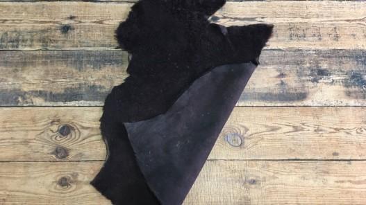 Peau de mouton lainé marron cuirenstock