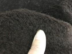 Peau de mouton lainé marron Cuir en stock