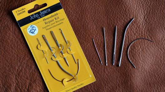 Lot d'aiguilles pour coudre le cuir et les tissus épais Cuirenstock