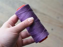 Fil ciré violet en polyester tressé travail du cuir couture accessoires Cuir en Stock