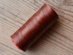 Bobine fil polyester brun tressé et poissé coudre le cuir outils Cuirenstock