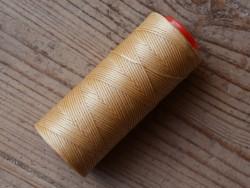 Bobine fil polyester écru tressé et poissé couture du cuir sellier Cuirenstock