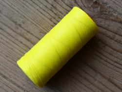 Bobine fil poissé polyester jaune fluo couture cuir main Cuirenstock