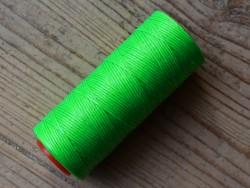 Bobine fil polyester tressé et poissé vert fluo couture du cuir à la main Cuirenstock