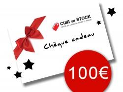 Chèque carte cadeau Cuirenstock 100 euros travail du cuir maroquinerie