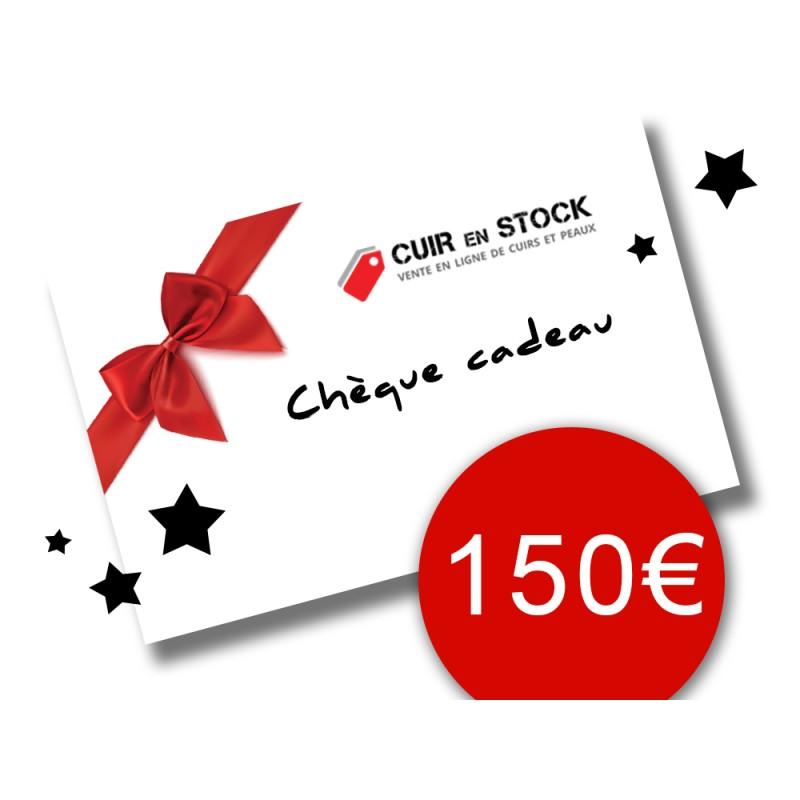 Chèque carte cadeau Cuirenstock 150 euros travail du cuir
