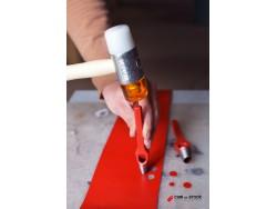 maillet nylon 35 mm repoussage et modelage du cuir - Cuir en Stock