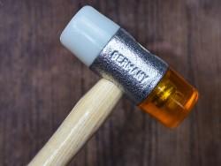 maillet en bois embout plastique travail du cuir maroquinerie - Cuir en Stock