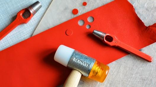 Emporte pièce à frapper rond qualité pro maroquinerie travail du cuir Cuir en Stock