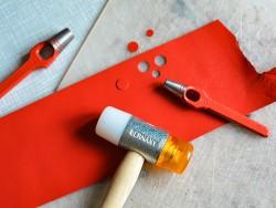 Emporte pièce à frapper rond outil qualité pro travail du cuir maroquinerie Cuir en Stock