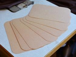 plaques de renfort 25,5 x 17 cm épaisseur 0,8 mm Cuir en Stock