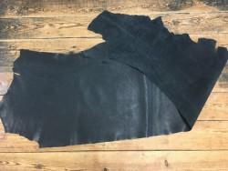 Demi peau de cuir de vache naturel noir Cuir en Stock