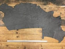Demi-peau de cuir de vache naturel grainé gris cendre Cuirenstock