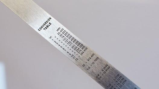 Réglet cm et inches souple pour travail du cuir et couture qualité pro - Cuirenstock