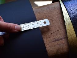 Règle en métal 30 cm acier inox - Cuir en Stock