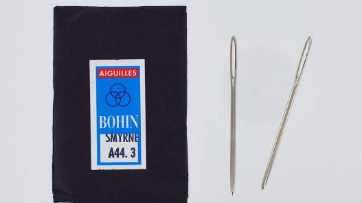 Lot d'aiguilles smyrne A44 n°3 laçage cuir bout rond Cuir en Stock