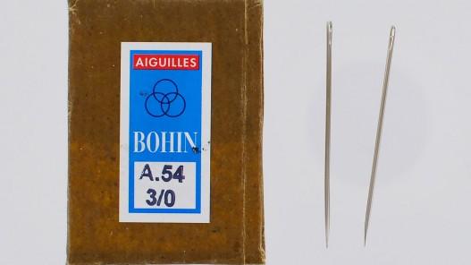 Lot de 2 aiguilles carrelet triangulaire travail du cuir Cuir en Stock