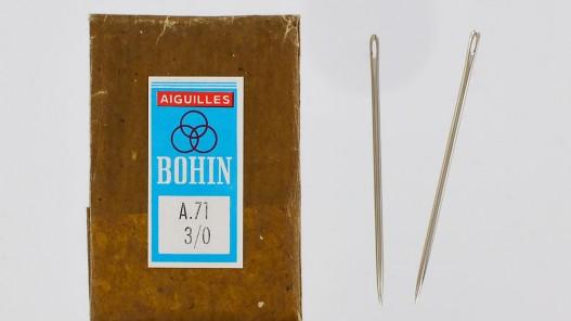 Lot de 2 aiguilles A71 3/0 qualité pro cuir en stock