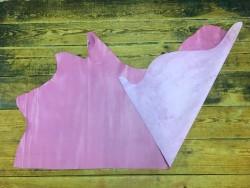 Demi peau de cuir de veau rose aniline ameublement Cuirenstock