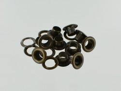 Œillets à rouler avec rondelles laiton finition bronze - Cuir en Stock