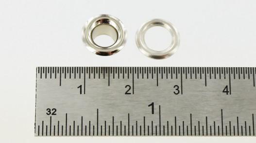 Vente lot œillets 9 mm nickel pour cuir tissus et bâche - Cuir en Stock