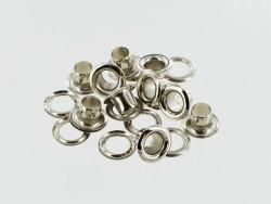 Œillets à rouler avec rondelle laiton finition nickelé - Cuir en Stock