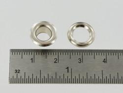 Œillet rond avec rondelle de finition pour cuir fin 12 mm - Cuir en Stock