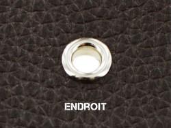 Poser un œillet rond sur cuir finition nickelé - Cuirenstock