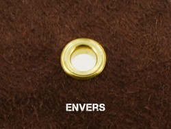 Exemple comment poser un œillet avec une pince manuelle et des embouts - Cuir en Stock